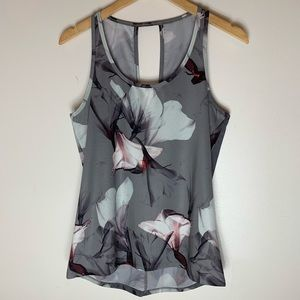 Fabletics | Gray Floral Bess Tank